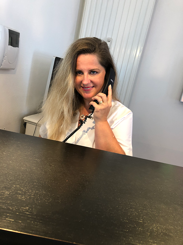 Audrey assistante au cabinet dentaire du Dr Boeschlin à Strasbourg